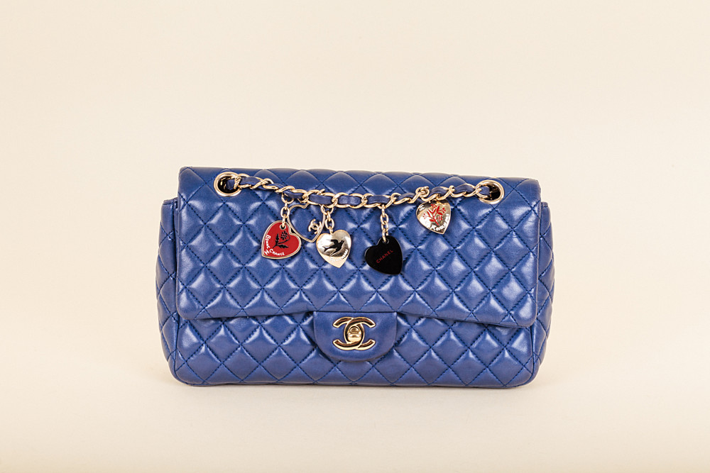 ca54a64fadbc Chanel Quilted Charms Classic Flap Bag