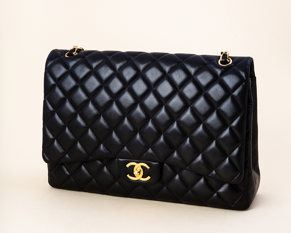 3f31db0c7a6f Chanel Lambskin Quilted Maxi Double Flap Bag | Vivrelle