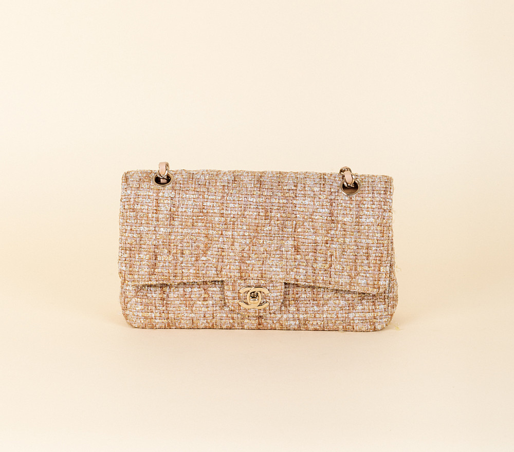 a6b24eff344f Chanel Tweed Medium Classic 2.55 Double Flap Bag | Vivrelle