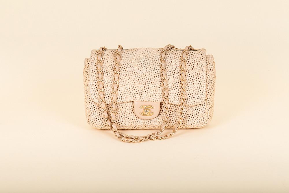 52d52667ab847e Chanel Raffia Classic Flap Bag | Vivrelle