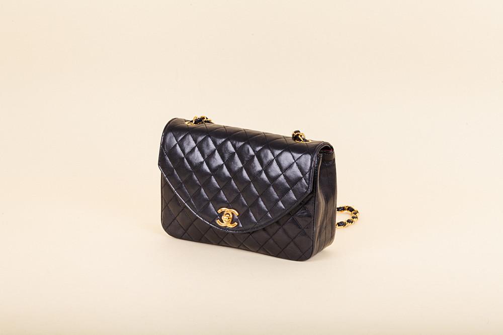 c8ca6a109189cc Chanel Vintage Round Flap Bag   Vivrelle