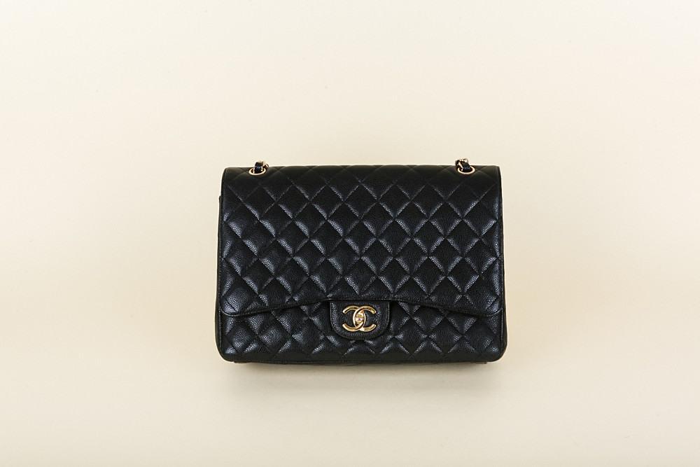 885af6deb88f Chanel Caviar Quilted 2.55 Maxi Double Flap Bag | Vivrelle