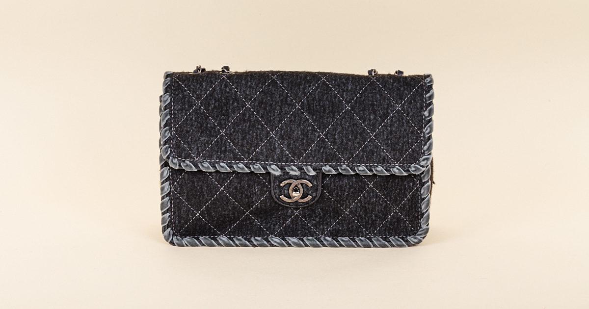 9e4157c86808 Chanel Felt and Woven Velvet Classic Flap Bag | Vivrelle