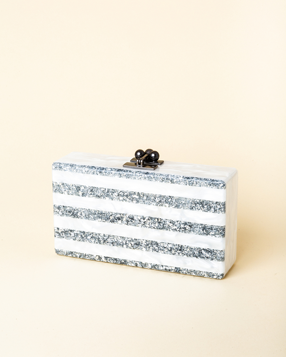 c201879b15 Edie Parker Jean Confetti-Striped Box Clutch | Vivrelle