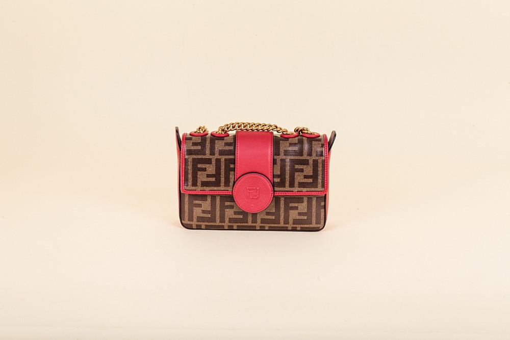 3bd45c66fa39 Fendi Mini Zucca Spalmati Crossbody Bag