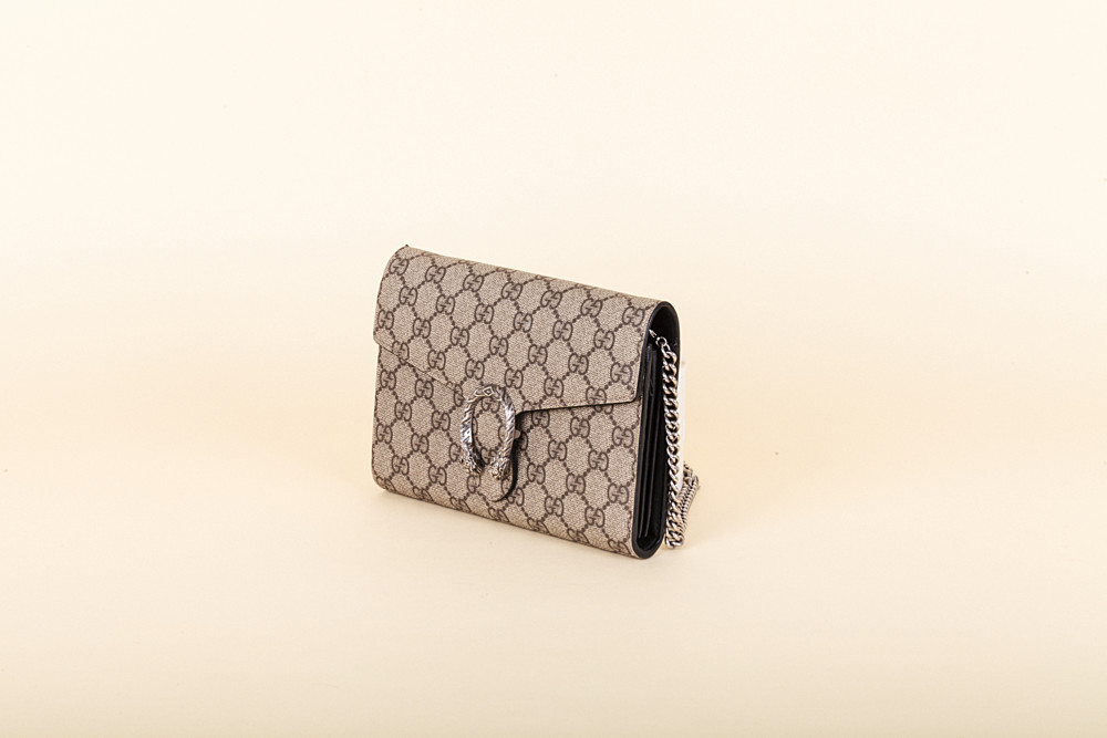 010fbb86154 Gucci Dionysus GG Supreme Wallet on a Chain