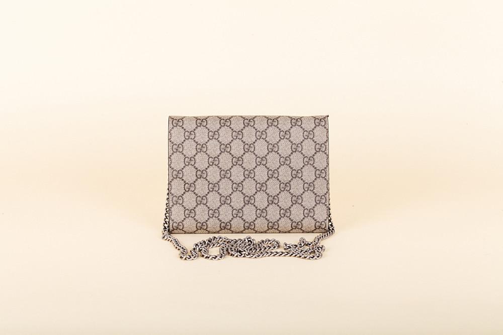 08fd2bc1fddd Gucci Dionysus GG Supreme Wallet on a Chain   Vivrelle