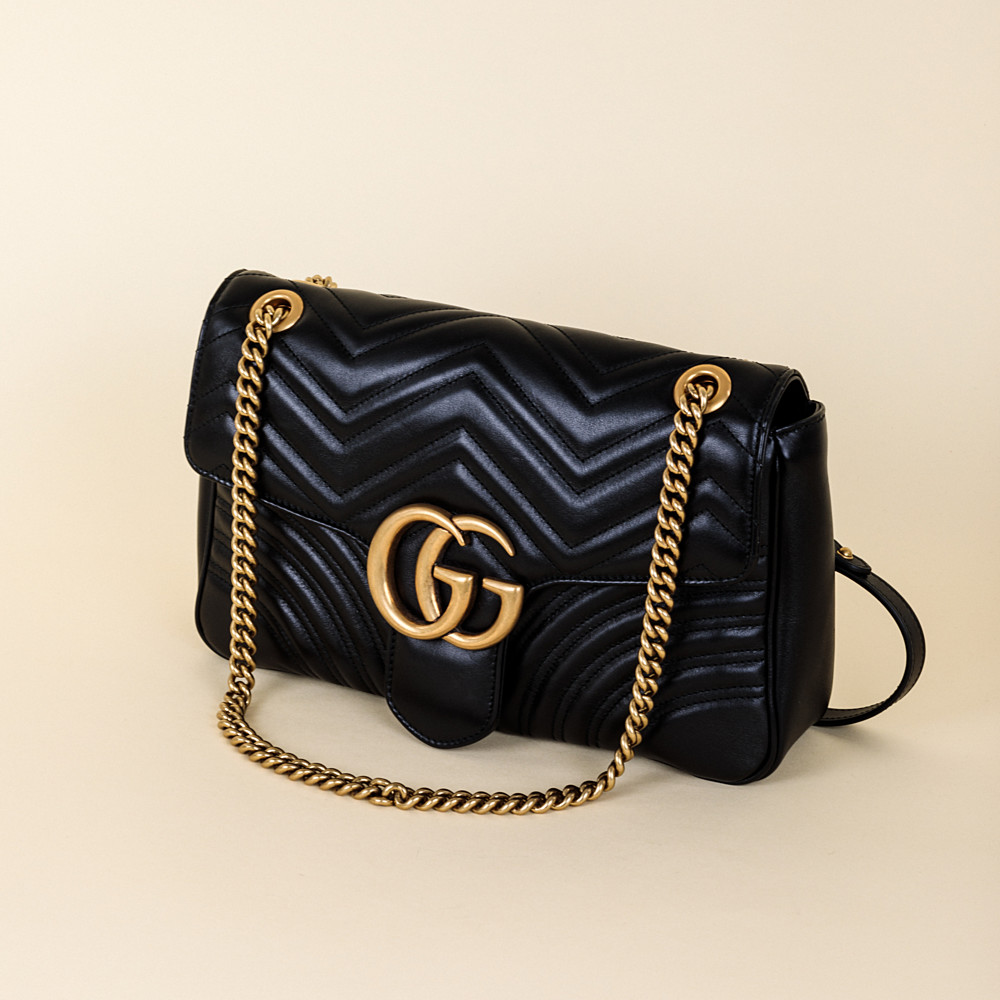 ee87aa6e2749 Gucci GG Marmont Medium Matelassé Shoulder Bag | Vivrelle
