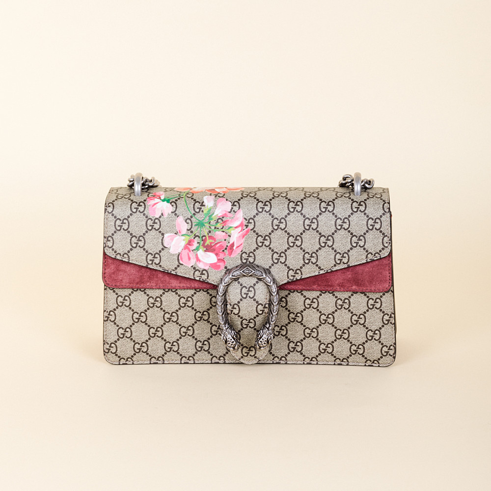 86263c470 Gucci Dionysus Small GG Blooms Shoulder Bag | Vivrelle