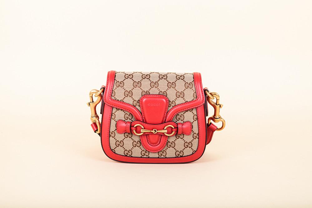 1dbd017c0841ae Gucci Monogram Small Lady Web Shoulder Bag | Vivrelle