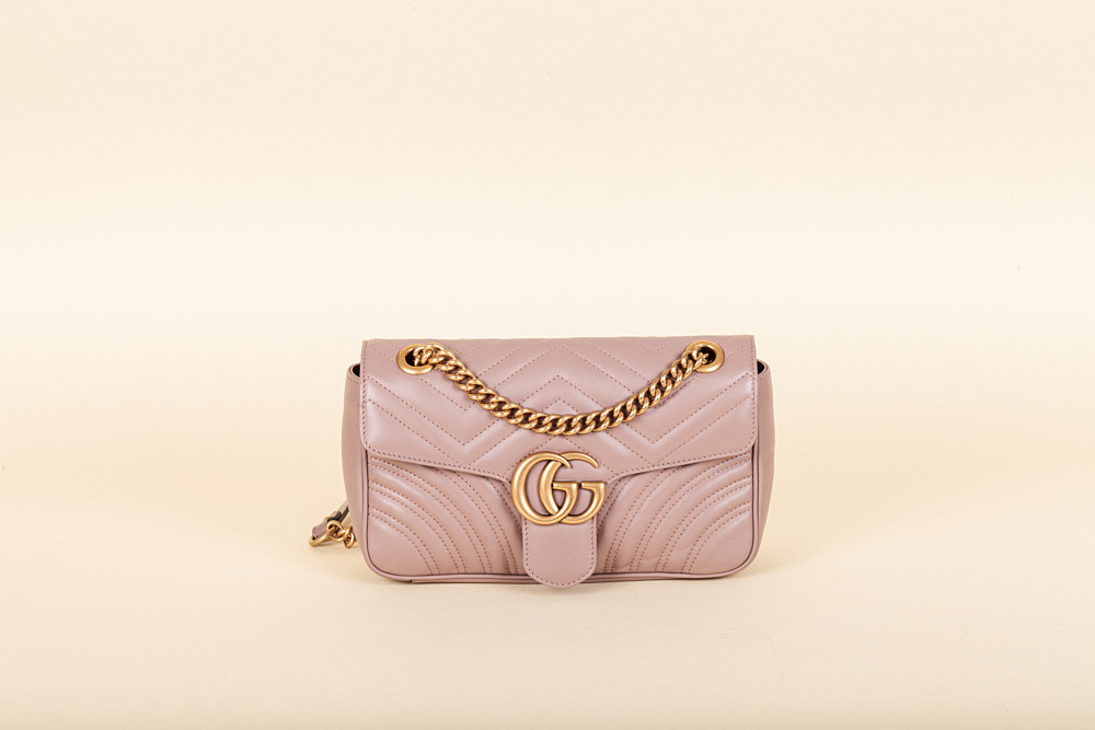 28362572042d51 Gucci GG Marmont Small Matelassé Shoulder Bag | Vivrelle