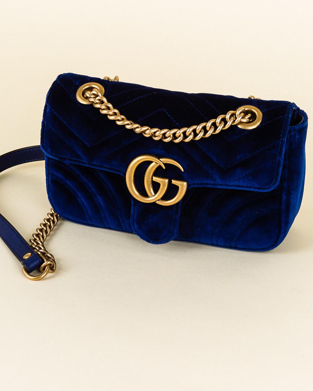 a98a3d7275a3 Gucci GG Marmont Velvet Shoulder Bag | Vivrelle